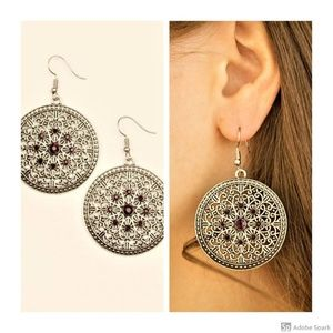 Catch A Chill - Purple & Silver Hook Earrings